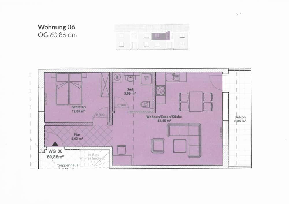 Grundriss Wohnung Nr.6