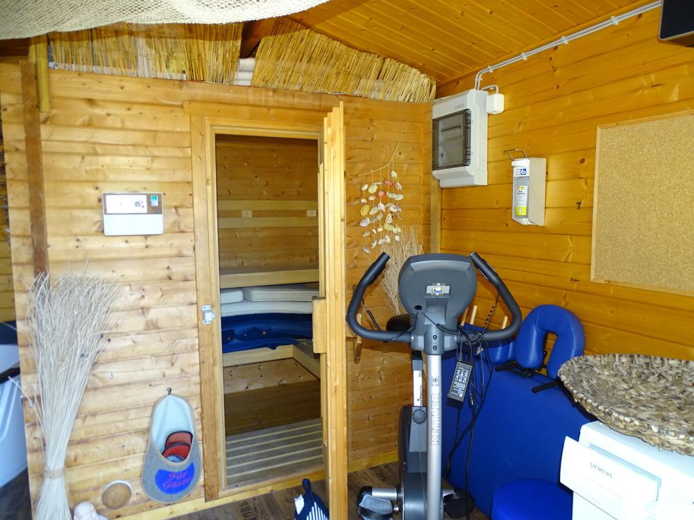 Sauna im Nebengebäude