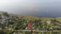 Luftbild mit Bodden