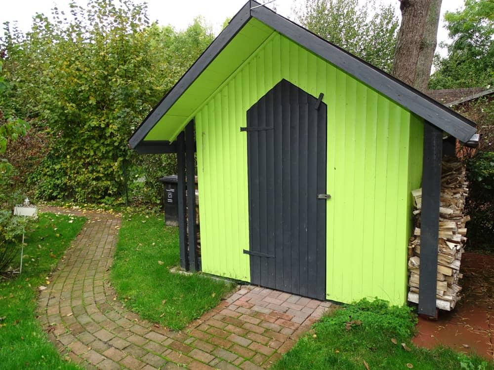 Holzblockhütte